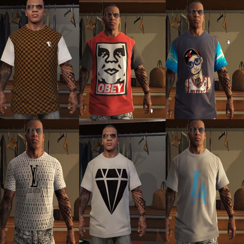 Random Clothes Pack для GTA V - Скриншот 1
