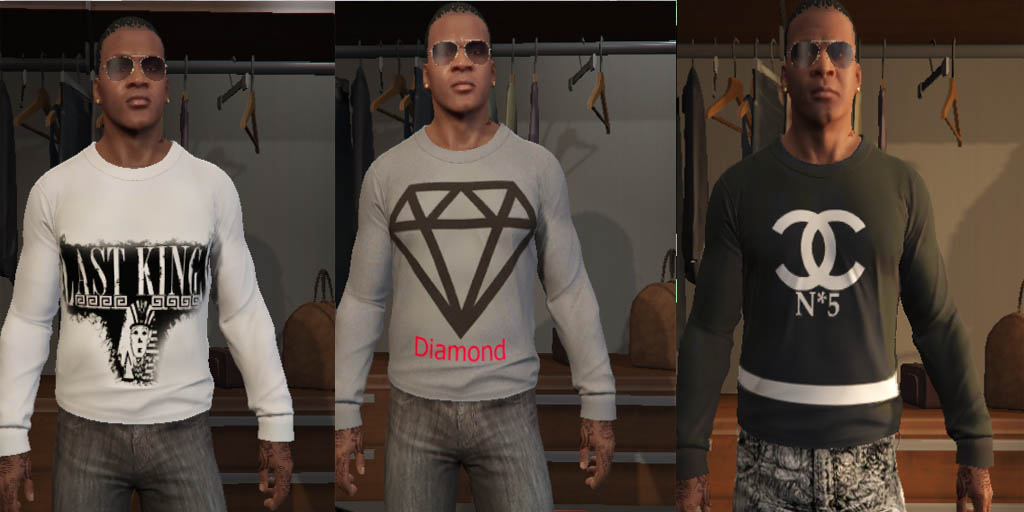 Random Clothes Pack для GTA V - Скриншот 2