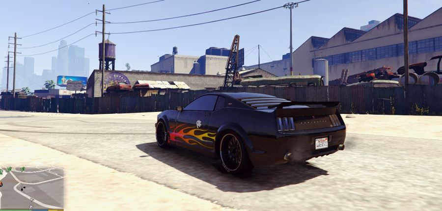 Razor's Mustang livery from NFS for Dominator v1.2 для GTA V - Скриншот 1