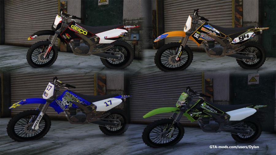 Real Liveries Pack (Honda, KTM, Yamaha, Kawasaki) v0.1 для GTA V - Скриншот 1