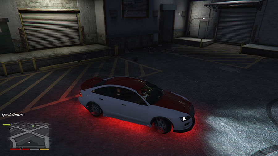 Red Vehicle Lighting and Brighter Neons для GTA V - Скриншот 3