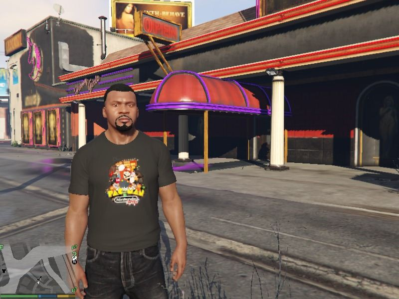 Retro Gaming T-shirt for Franklin для GTA V - Скриншот 1