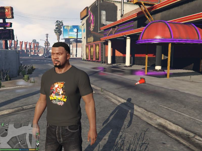 Retro Gaming T-shirt for Franklin для GTA V - Скриншот 2