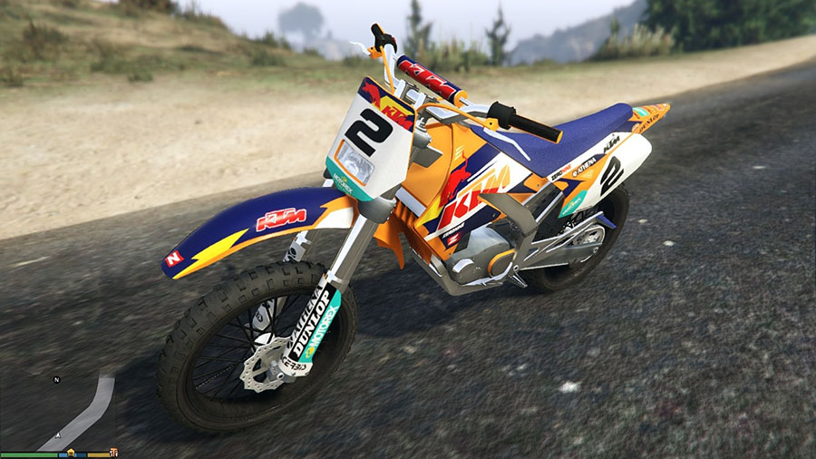 Sanchez KTM Rockstar and Factory Kit v0.2 для GTA V - Скриншот 2