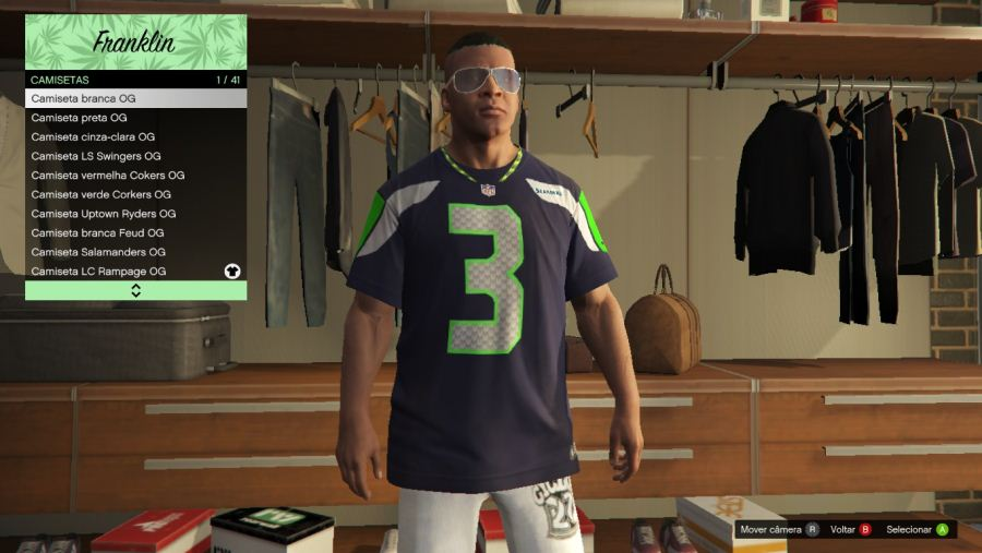 Seahawks Shirt Pack v3.0 для GTA V - Скриншот 1