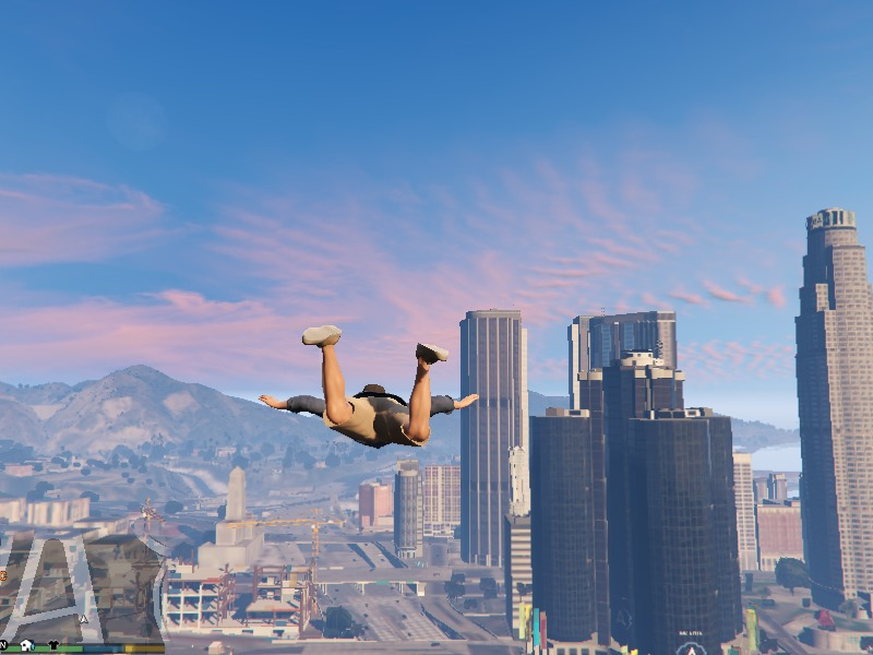 Skydive and Parachute Toggle v0.3 для GTA V - Скриншот 1