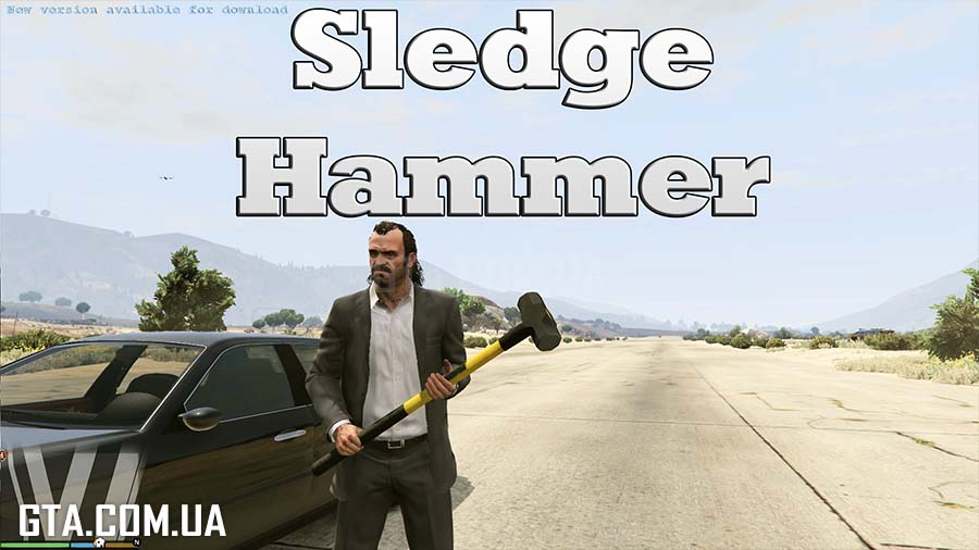 Sledge Hammer - Real Damage для GTA V - Скриншот 1
