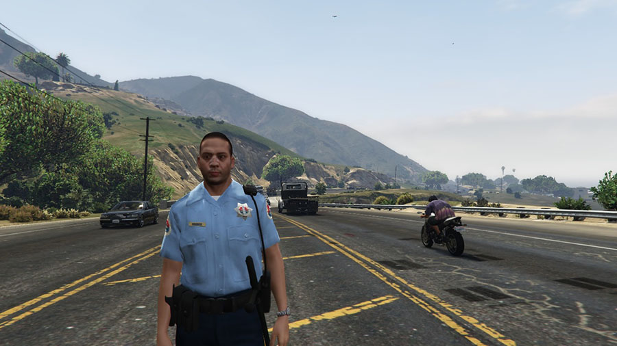 San Andreas State Trooper Ped для GTA V - Скриншот 1