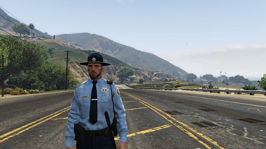 San Andreas State Trooper Ped для GTA V - Скриншот 3