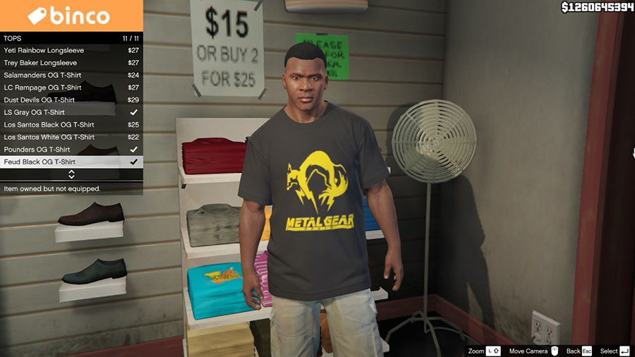 Video Game T-Shirt Pack для GTA V - Скриншот 3