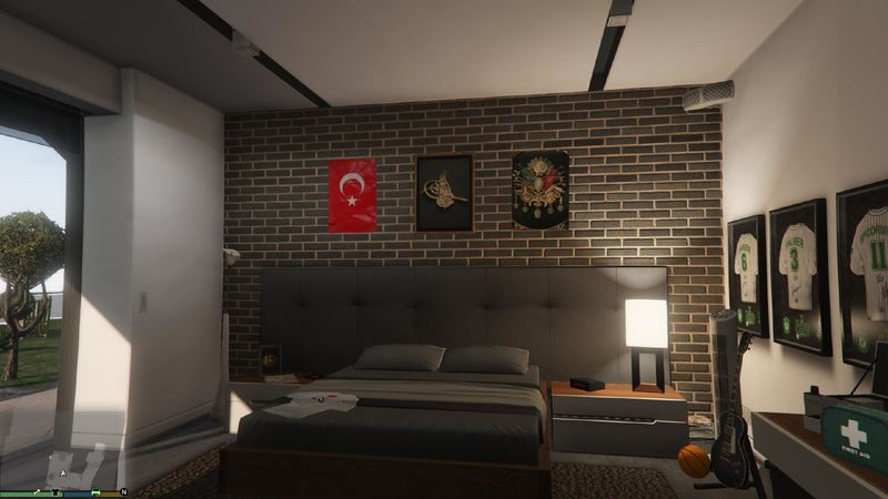 Turkish Textures for Franklin's Home для GTA V - Скриншот 1