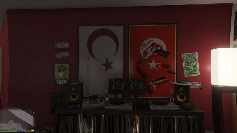 Turkish Textures for Franklin's Home для GTA V - Скриншот 3