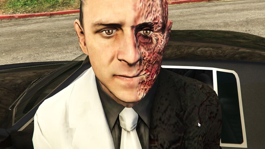 Two-Face Harvey Dent From Batman Arkham City для GTA V - Скриншот 3