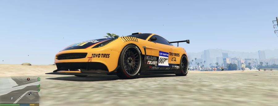 Vantage V12 GT3 livery for Massacro v1.2 для GTA V - Скриншот 1