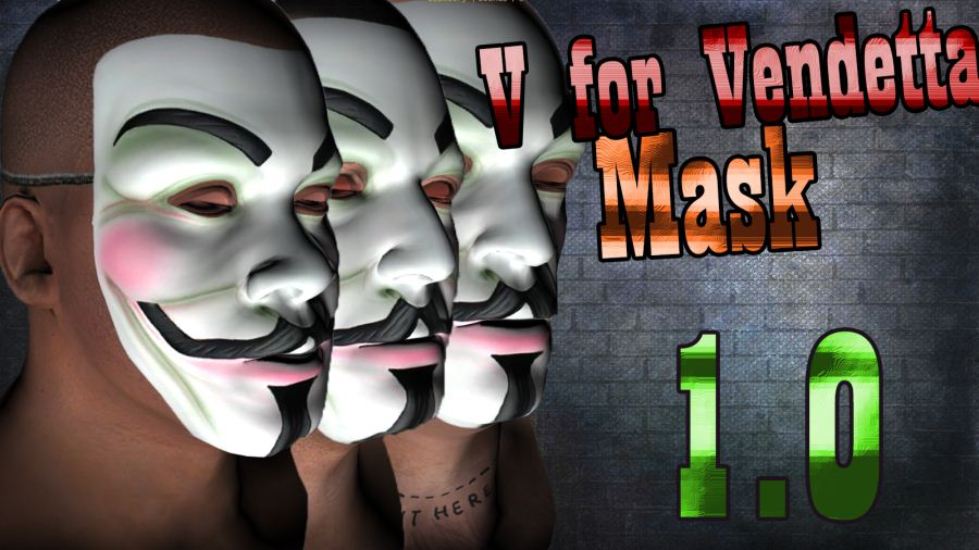 Vendetta Mask(Face Paint) v1.1 для GTA V - Скриншот 1