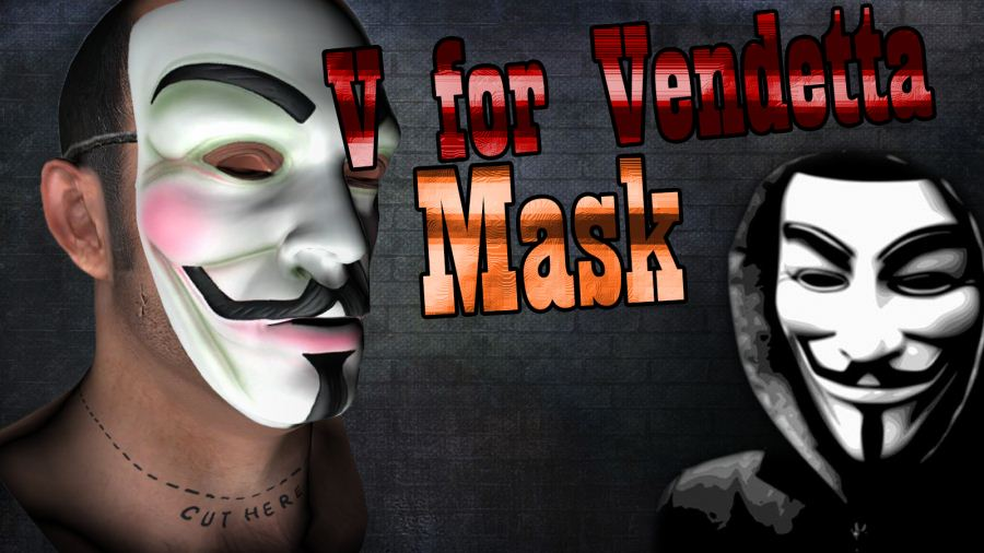 Vendetta Mask(Face Paint) v1.1 для GTA V - Скриншот 2