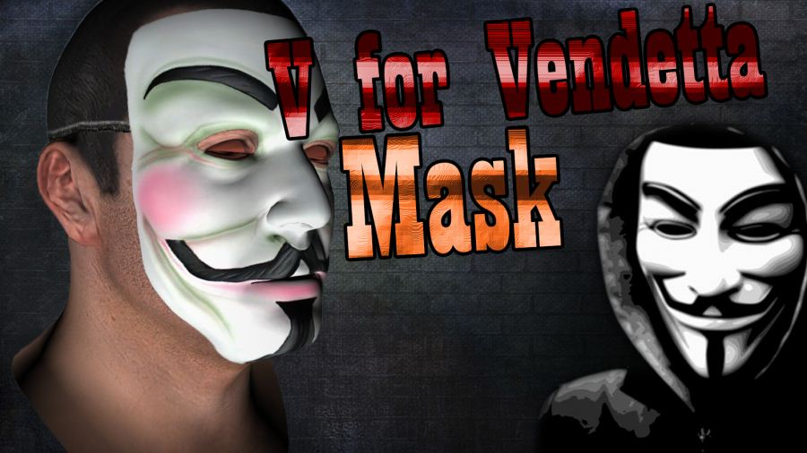 Vendetta Mask(Face Paint) v1.1 для GTA V - Скриншот 3