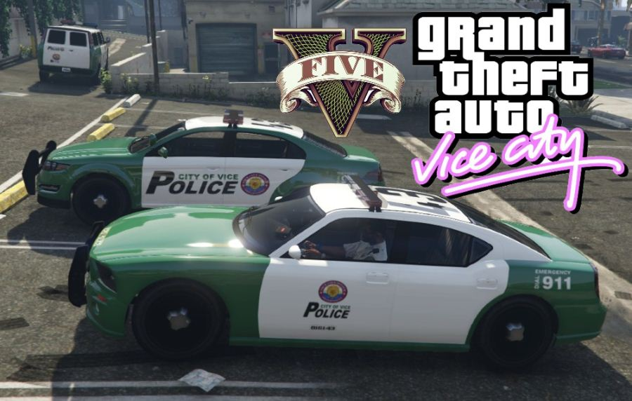 Vice City Police Cars для GTA V - Скриншот 2