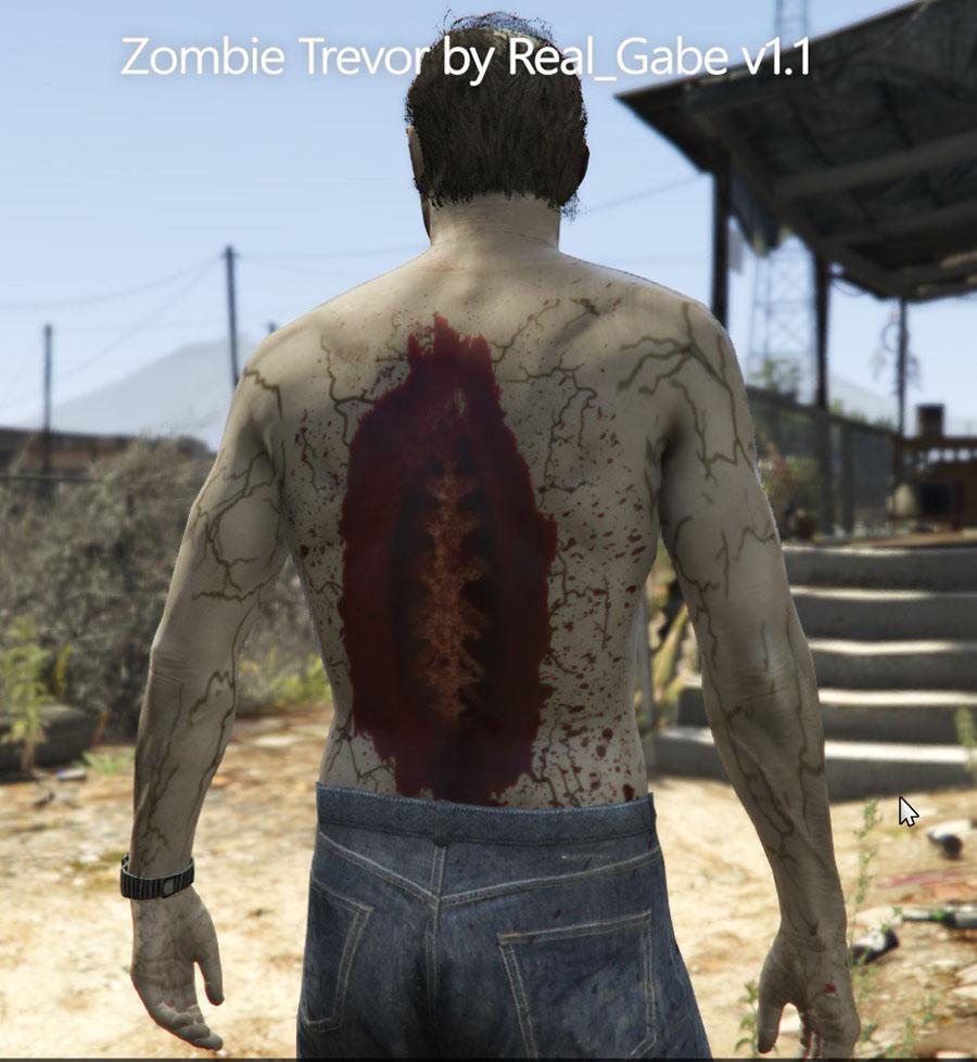 Zombie Trevor v1.1 для GTA V - Скриншот 3