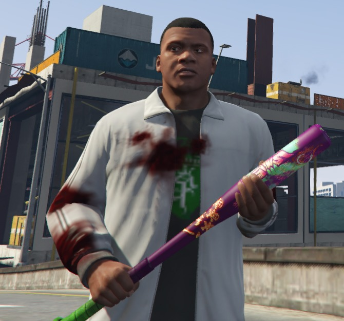 Joker Inspired Baseball Bat v1.1 для GTA V - Скриншот 1