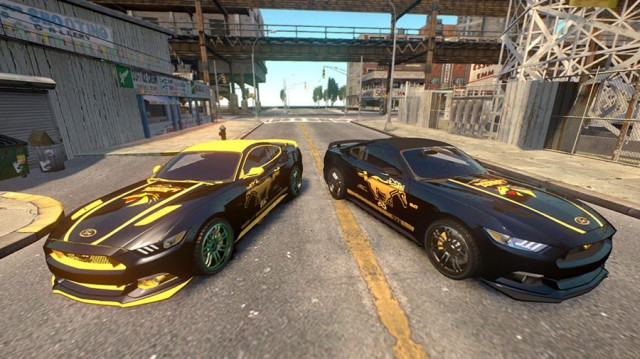 Ford Mustang Gold Edition v1.0 Paintjob