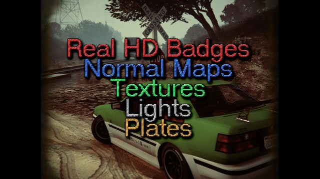 Real HD Badges, Normal Maps, Textures, Lights & Plates v0.6