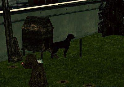 Собака около дома Райдера