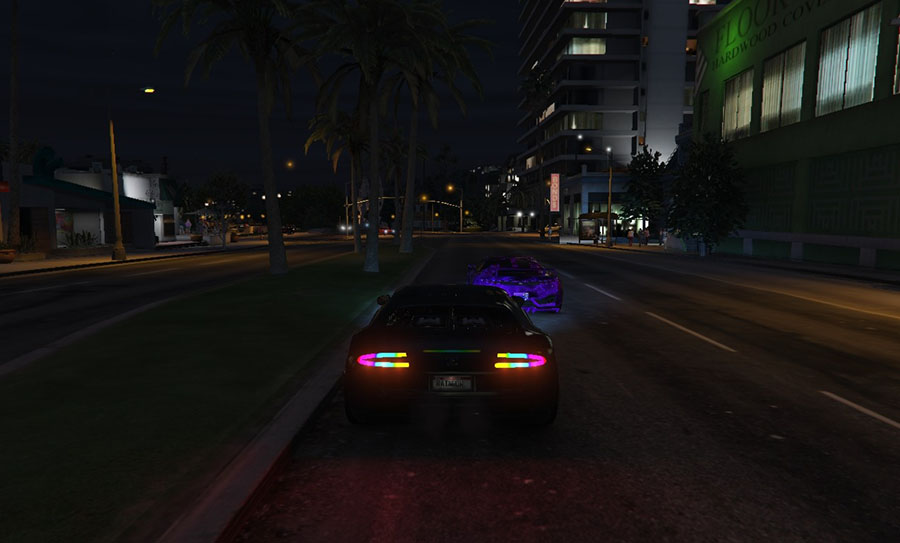 Adder Rainbow Headlights Mod v1.01 для GTA V - Скриншот 2