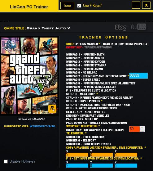 Grand Theft Auto V +24 Трейнер vb1.0.463.1