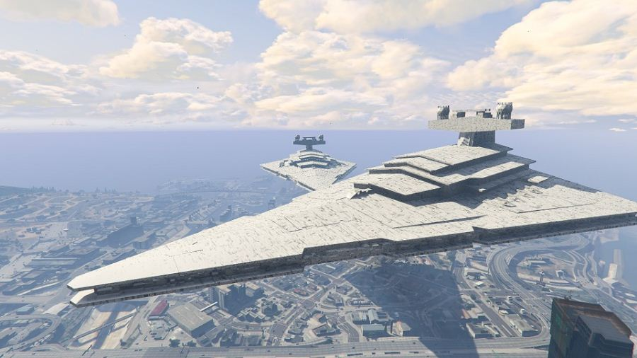 Imperial Star Destroyer Blimp (beta) v1.00 для GTA V - Скриншот 1