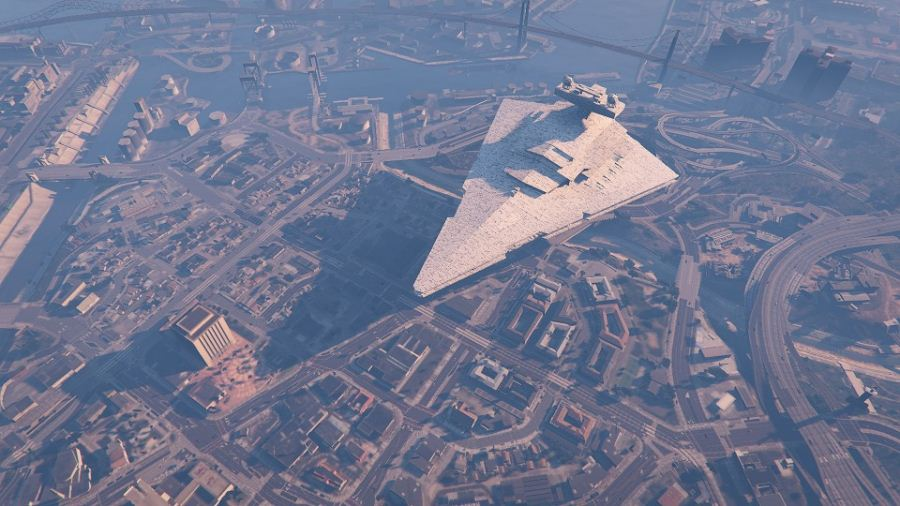 Imperial Star Destroyer Blimp (beta) v1.00 для GTA V - Скриншот 2