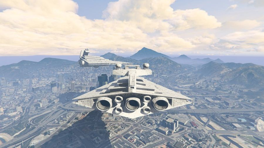 Imperial Star Destroyer Blimp (beta) v1.00 для GTA V - Скриншот 3