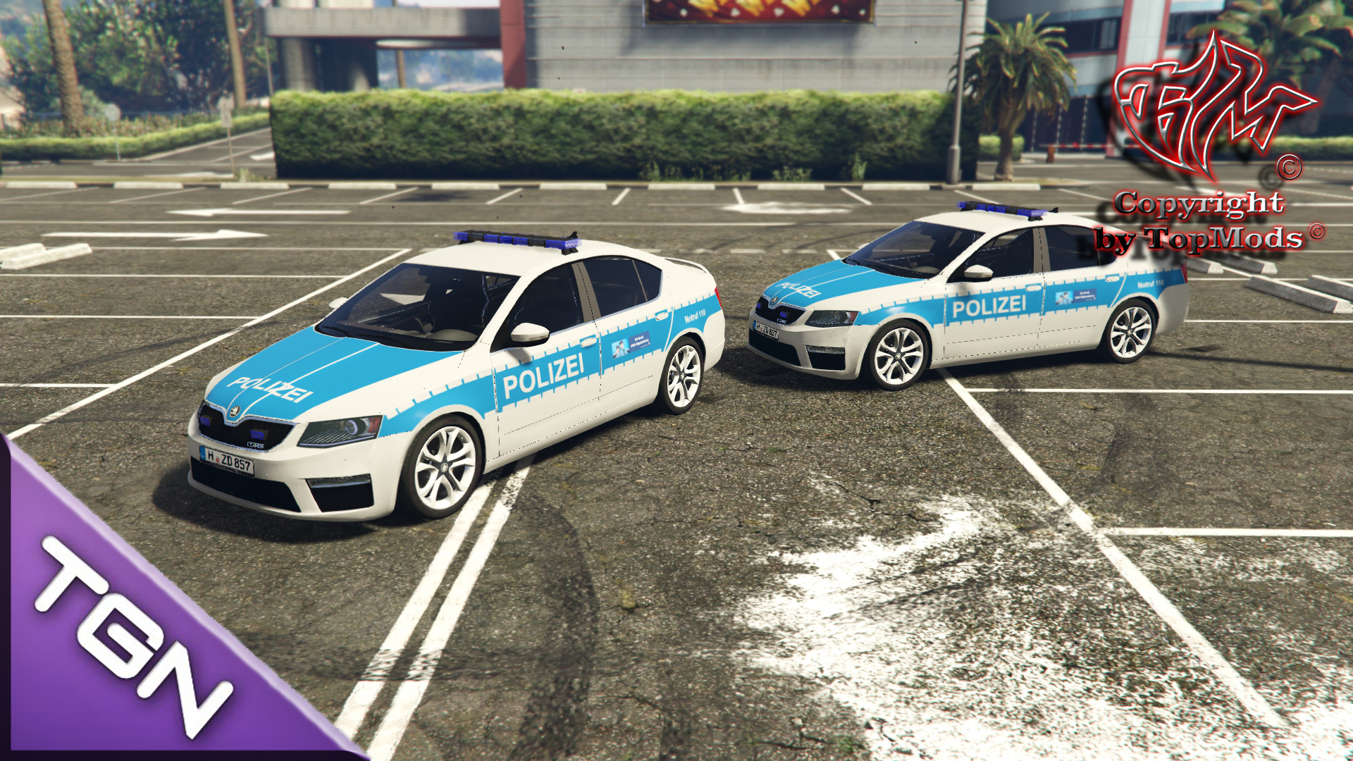 skoda octavia vrs polizei hannover gta 5. Black Bedroom Furniture Sets. Home Design Ideas