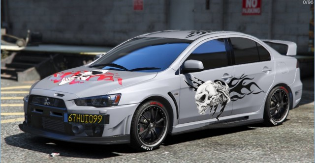 Mitsubishi Lancer Evolution X FQ-400 Skull Tribal Paintjob