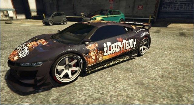iCrazyTeddy Car Texture (Dinka Jester Sports)