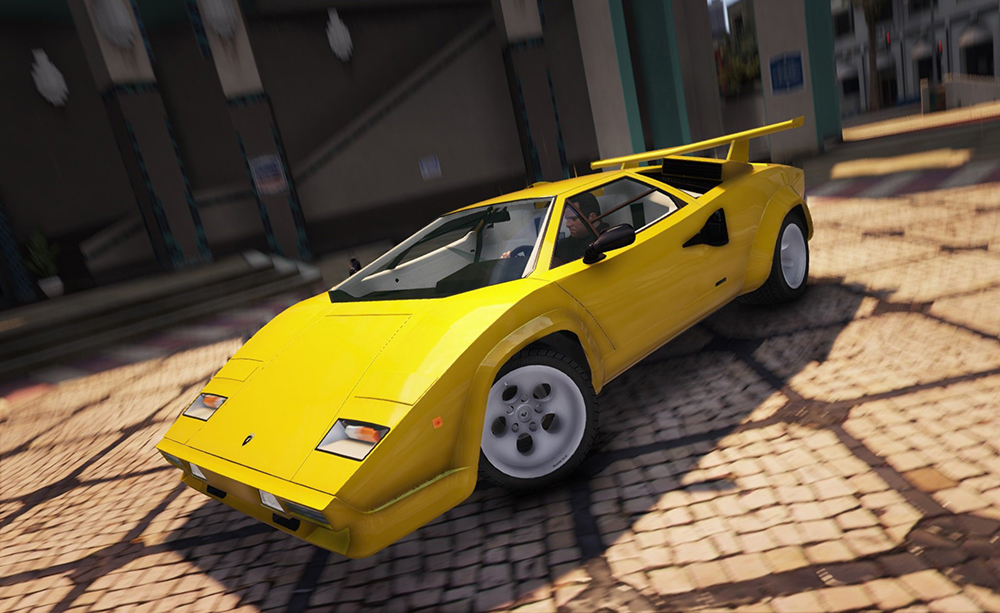 lamborghini countach qv v1 9 add on replace gta 5. Black Bedroom Furniture Sets. Home Design Ideas