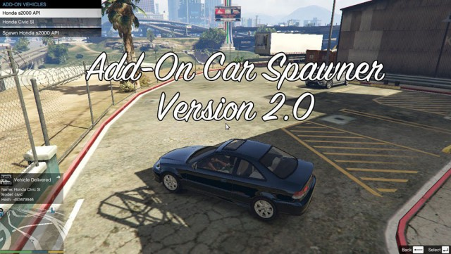 Add-On Car Spawner Menu v2.2.4