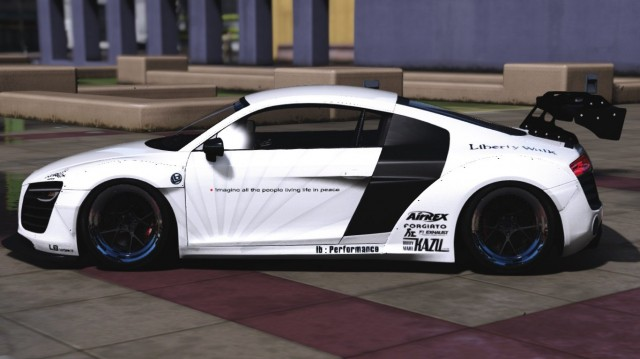 Audi R8 V10 Liberty Walk (Add-On / Replace)