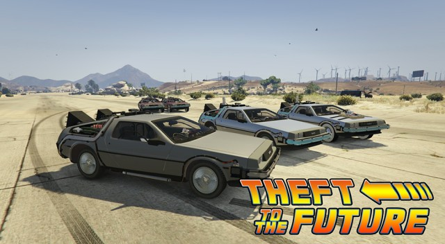 Back To The Future - Delorean Time Machine(3 Car Pack) v1.0