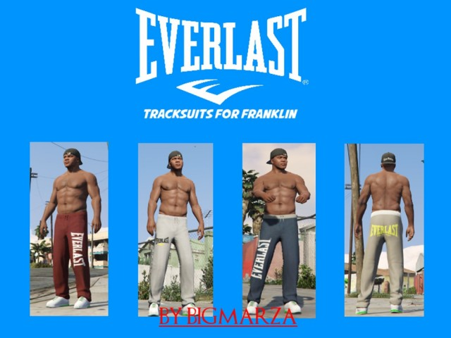 Everlast Tracksuit Pants Pack for Franklin v1.0