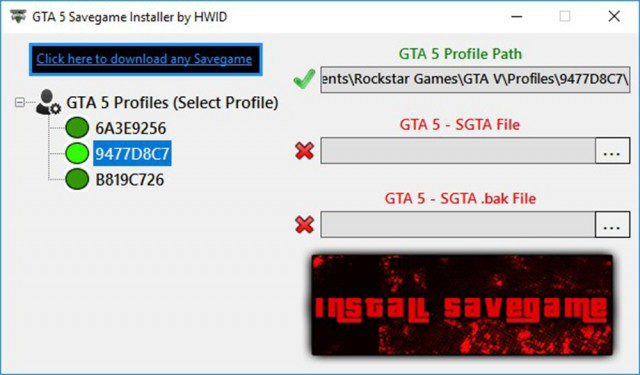 GTA V Savegame Installer