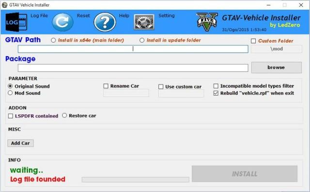 GTAV Vehicle Installer v2.0