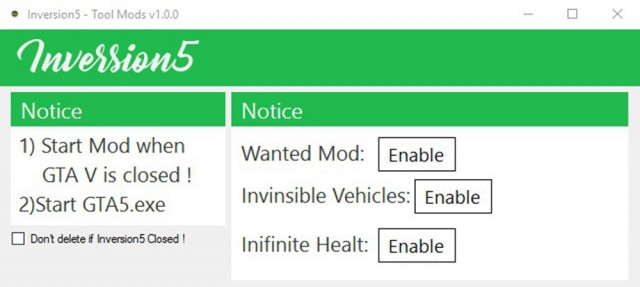 Inversion5 Simple Mods Tool v1.0.0