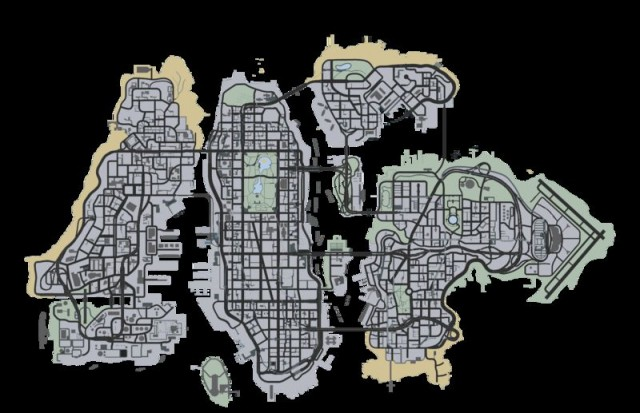 Liberty City Map V Style