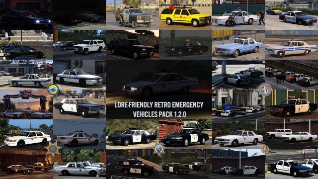 Lore-Friendly Retro Emergency Vehicles Pack v1.3.0