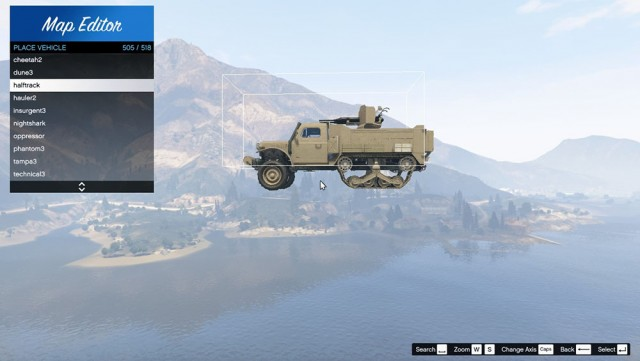 Updated Vehicle List For Map Editor v3.0