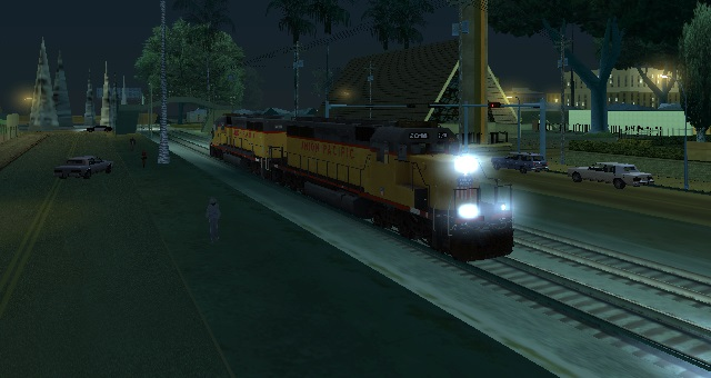EMD SD40-2 Freight Union Pacific with Reverse Cab