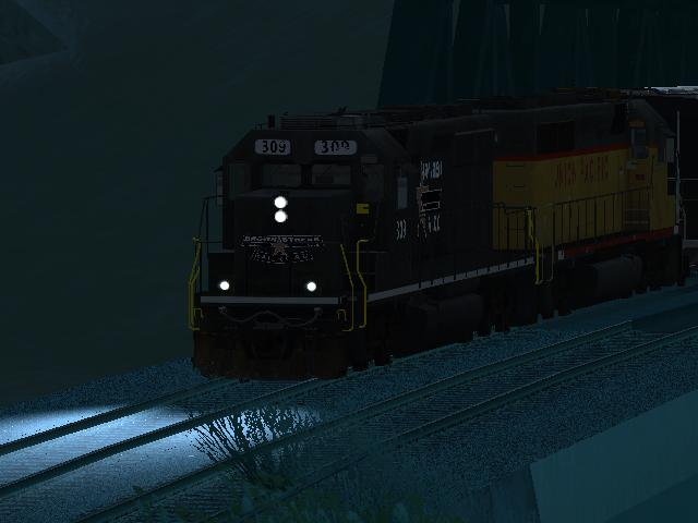 EMD SD40-2 Freight Brown Streak with Fixed Lights