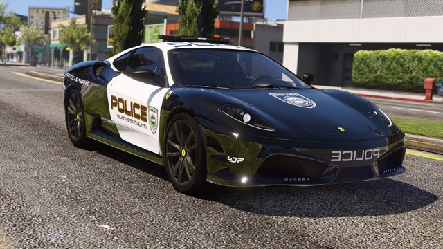 Ferrari F430 Scuderia - Hot Pursuit Police (Add-On/Replace)