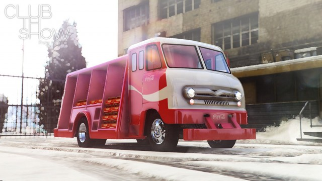 Ford P600 Coca-Cola Delivery Truck 1964 (Add-On)